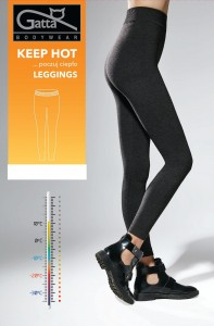 Legginsy damskie - Legginsy Gatta Keep Hot 4680S