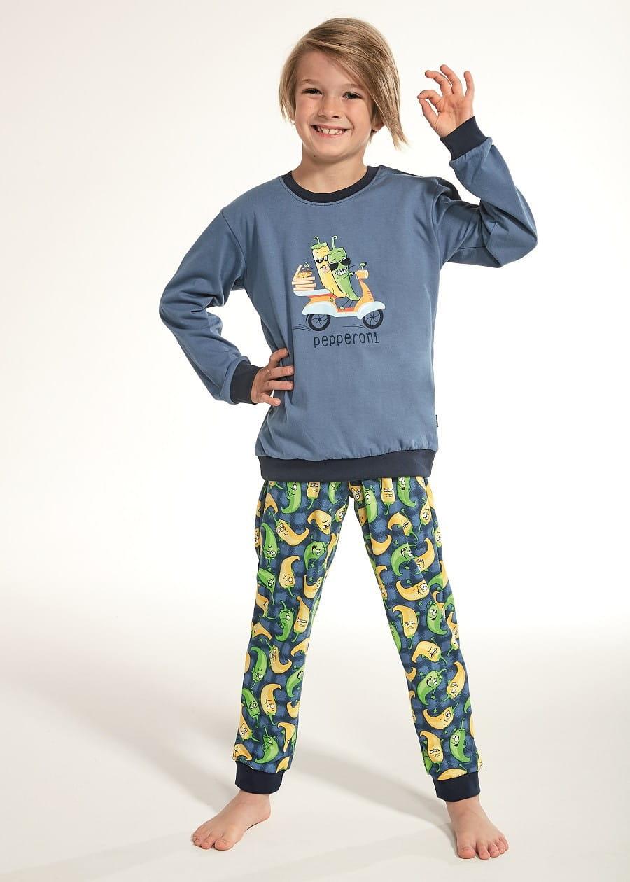 Piżama Cornette Kids Boy 59391 Pepperoni dłr 86 128